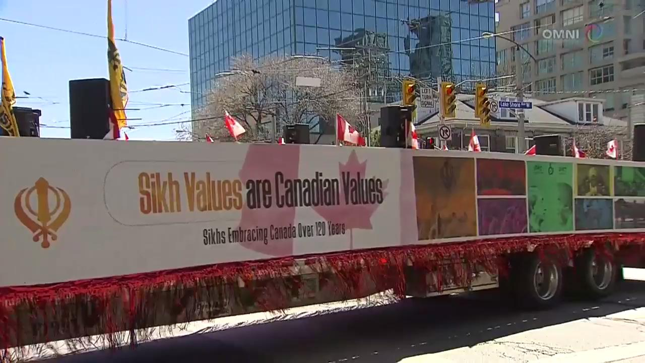 Khalsa Day Parade marches beside Toronto Strong