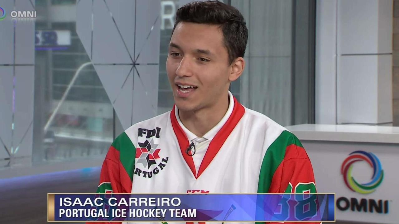 PORTUGAL ICE HOCKEY ISAAC CARREIRO INTERVIEW