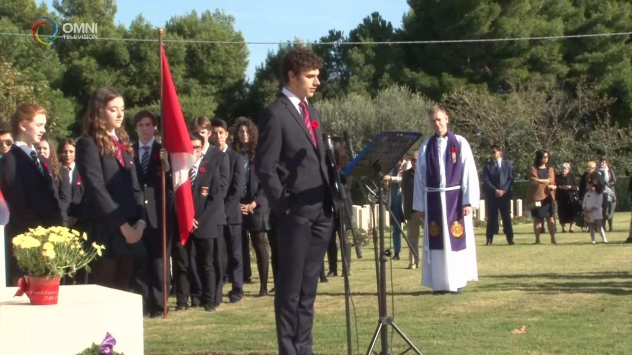 Remembrance Day: l'omaggio ai caduti canadesi in Italia