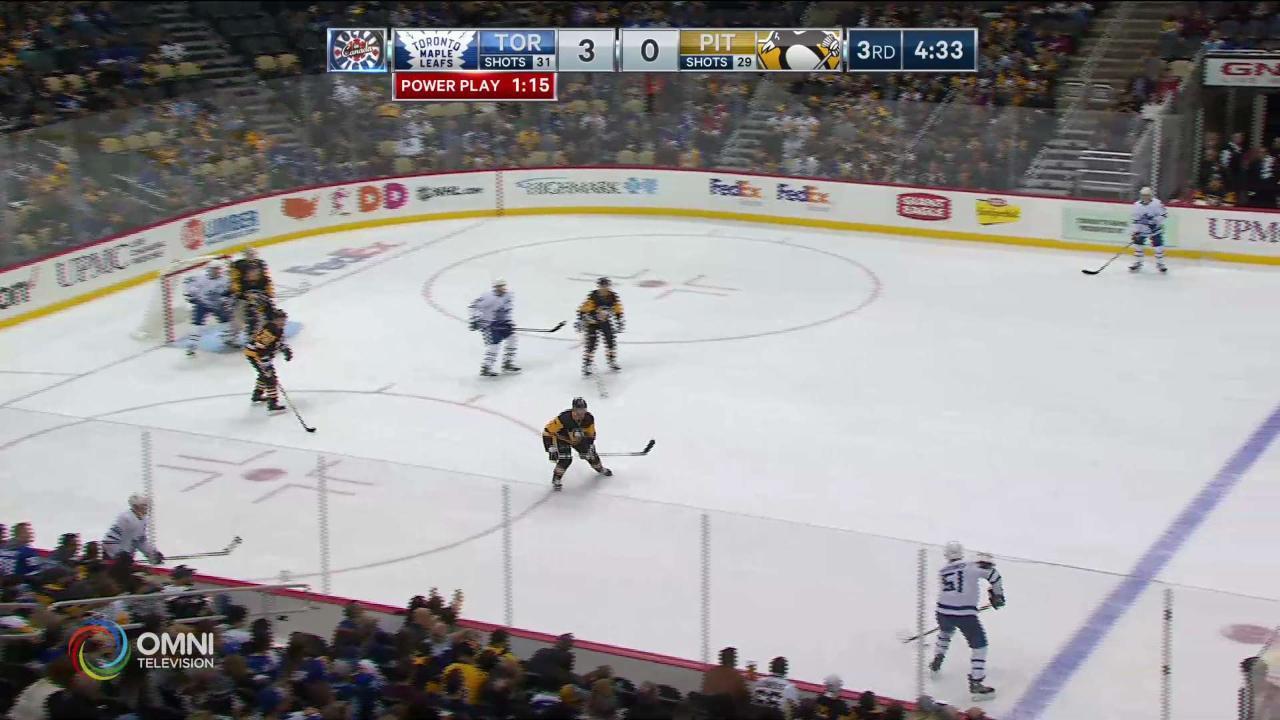 Rielly 2nd goal 4-0 Leafs