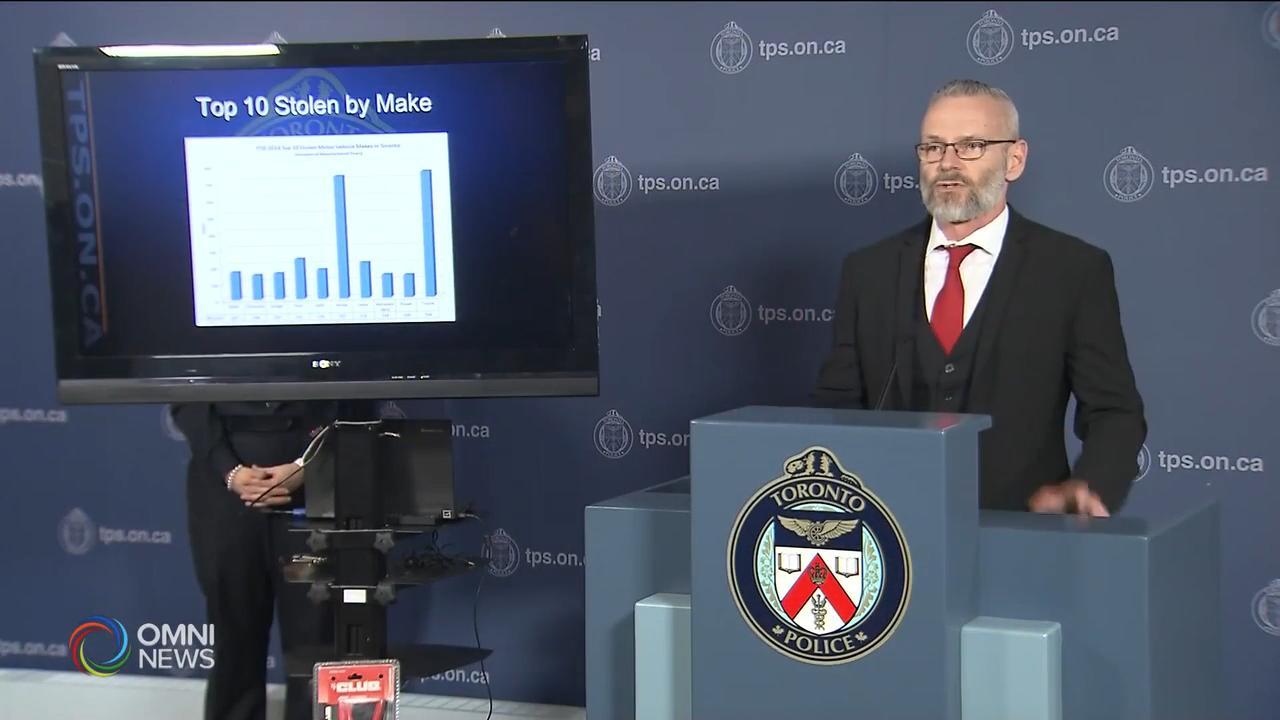 多倫多汽車竊盜案上升接近3成 — Dec 13, 2018 (ON)