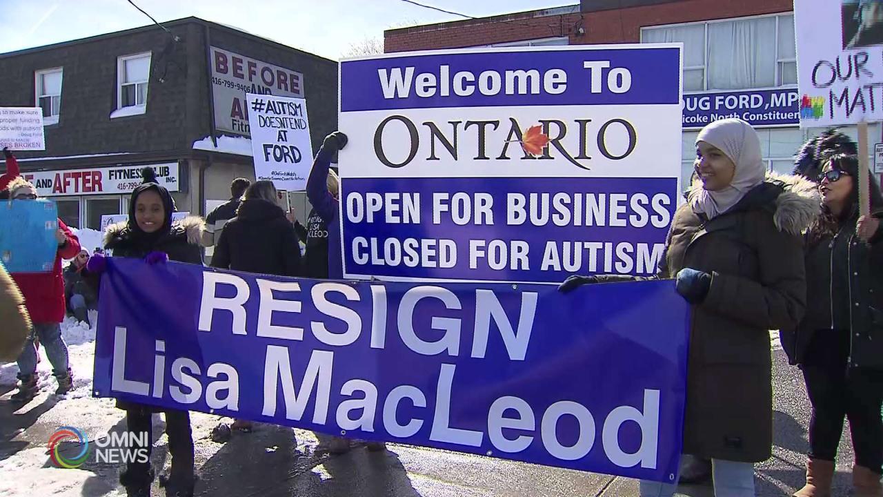 Autismo, continuano le proteste per i tagli del governo Ford