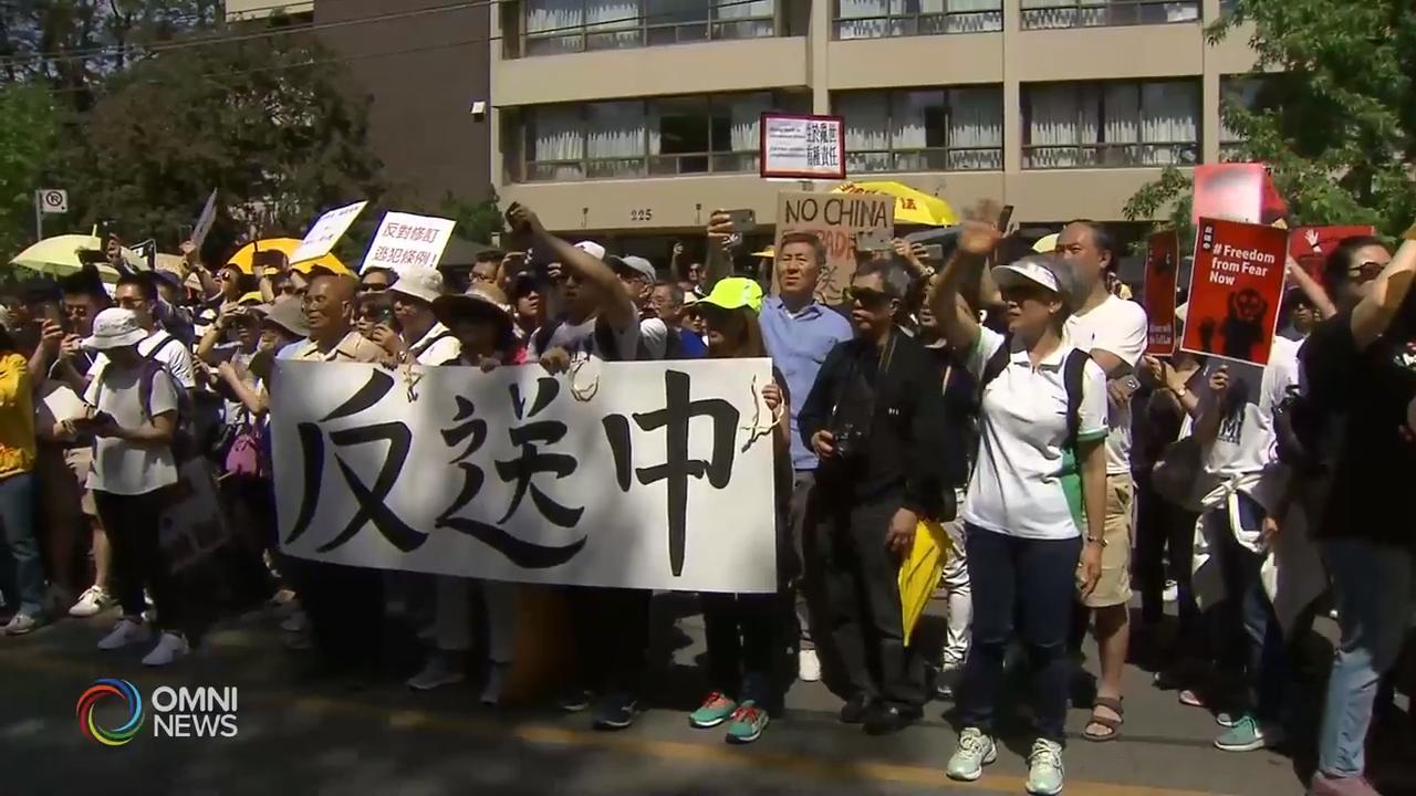多伦多响应香港游行,反对港府修订逃犯条例  – Jun 10, 2019 (ON)