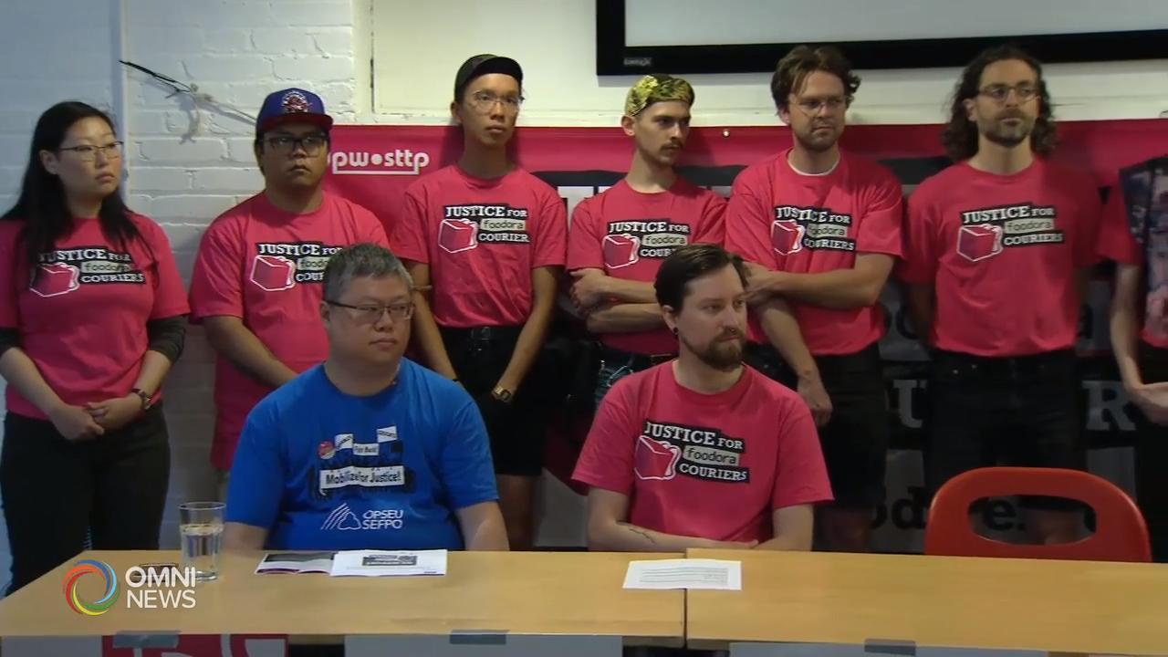 网络送餐平台Foodora 在多伦多的员工有意成立工会  – Jun 12, 2019 (ON)
