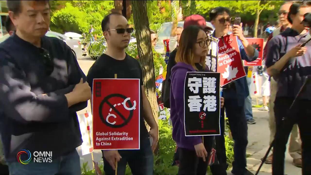 港加聯向多倫多香港經貿處提交抗議信 — Jun 13, 2019 (ON)