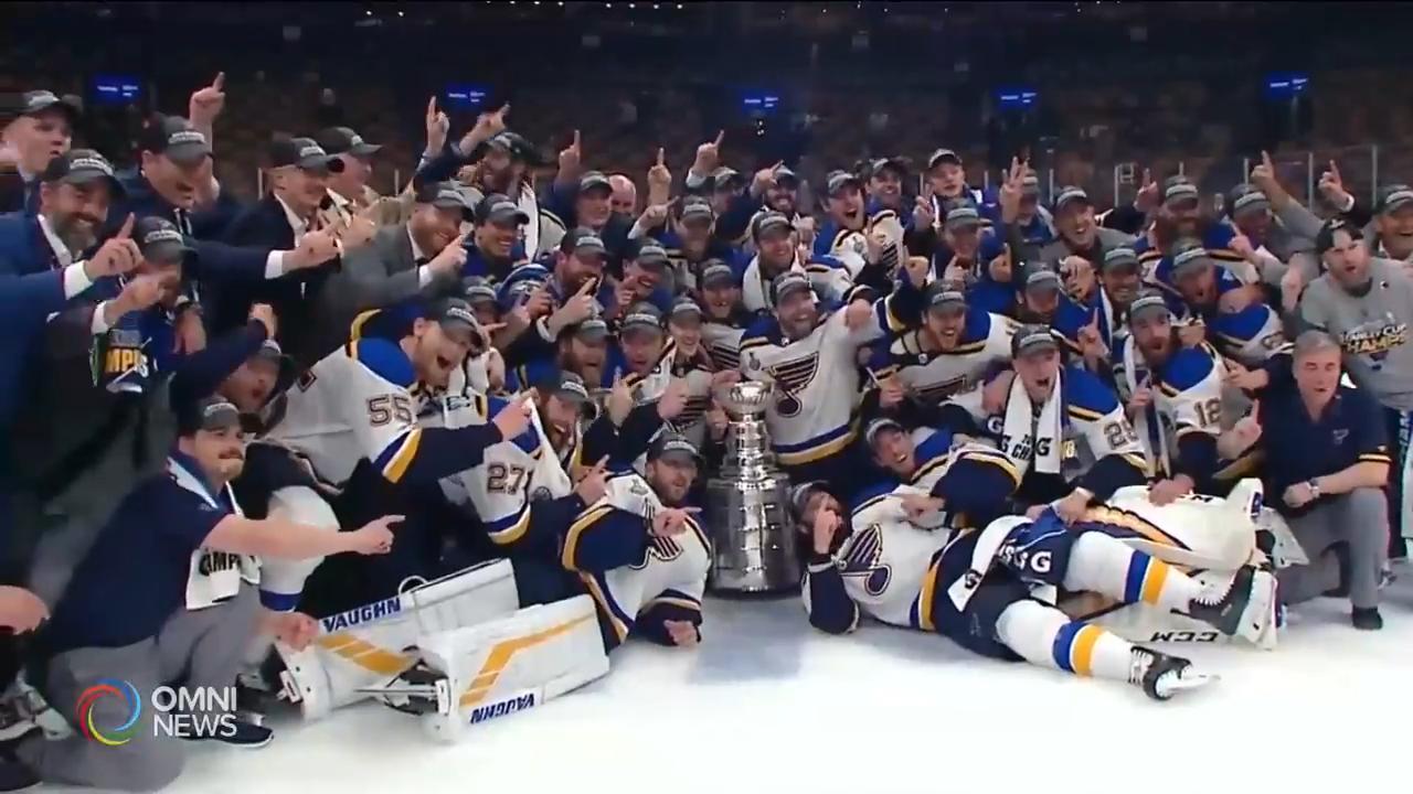 聖路易斯藍調隊首度捧走史丹利盃 — Jun 13, 2019 (ON)