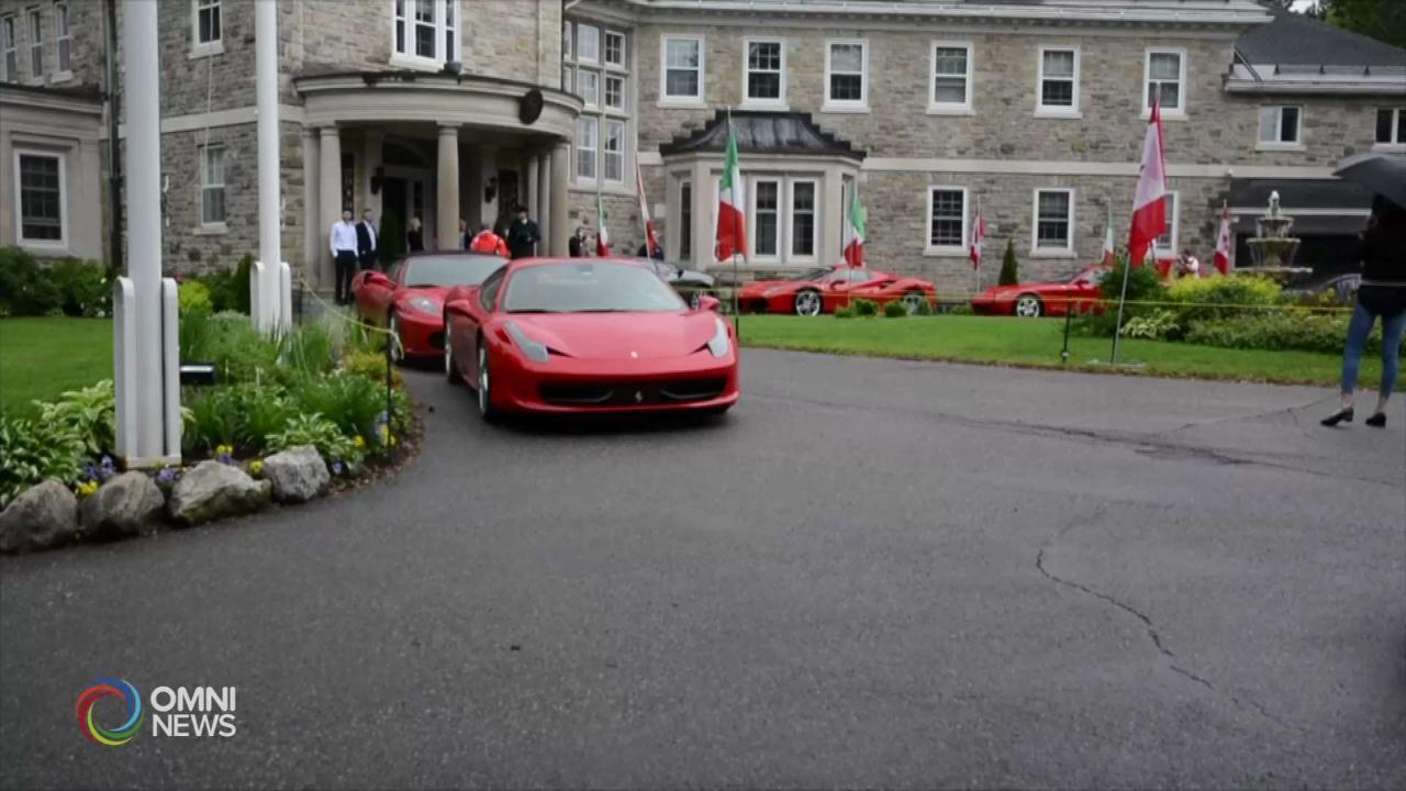 Ottawa Italian Week: le Ferrari fanno pit stop dall'ambasciata italiana