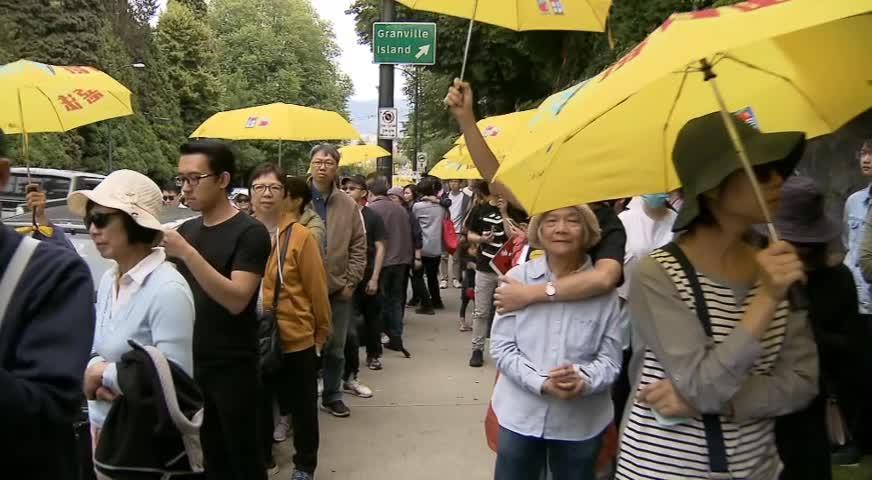 多個團體舉辦活動聲援香港 反對修訂《逃犯條例》(BC) – JUN 14, 2019