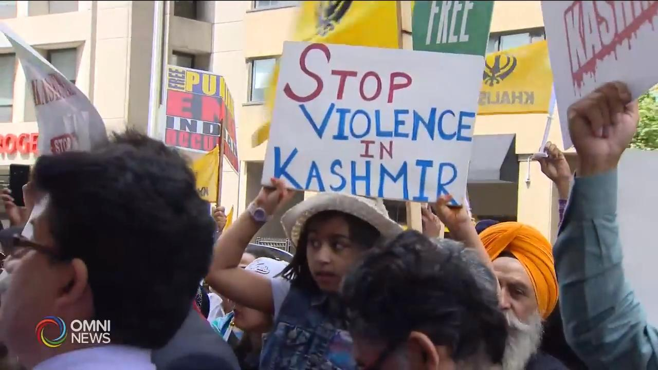 GTA protests in solidarity with Kashmir