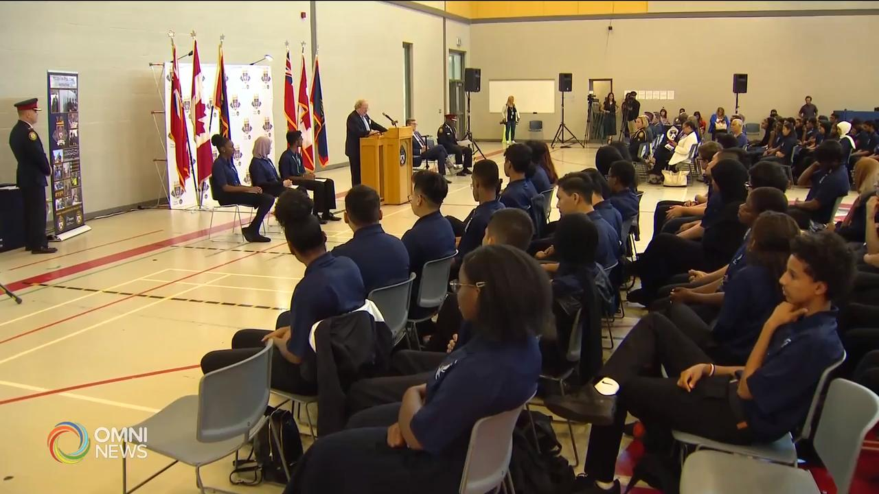Graduation ceremony for Toronto Police Service's summer program