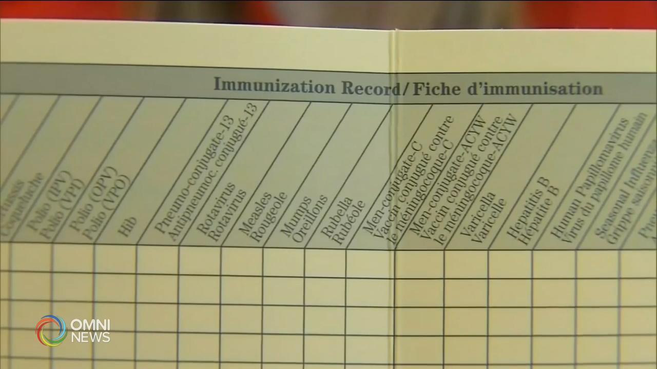 學童拒絕接種預防疫苗,衛生局促請正視 — Sep 16, 2019 (ON)