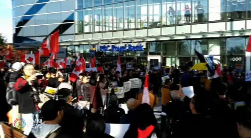 """香港""""禁蒙面法"""" 引發本地集會示威 (BC) – 2019OCT08"""