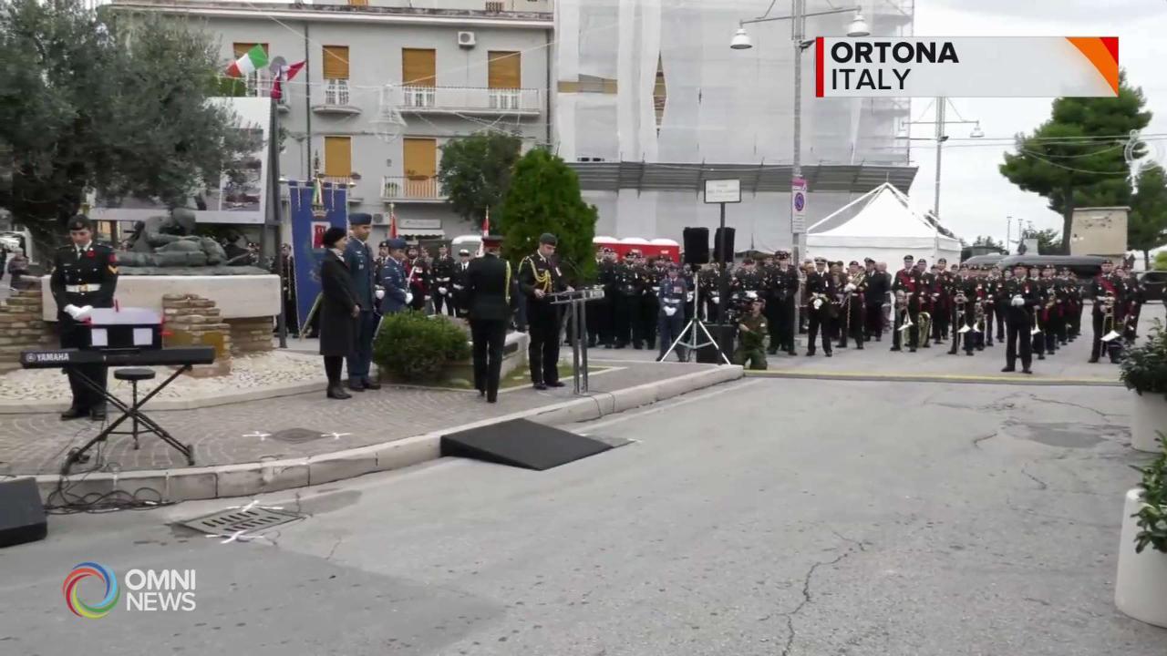 La visita in Italia del Governatore Generale Julie Payette a Ortona
