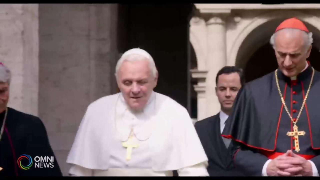 """""""The Two Popes"""" nei cinema canadesi"""