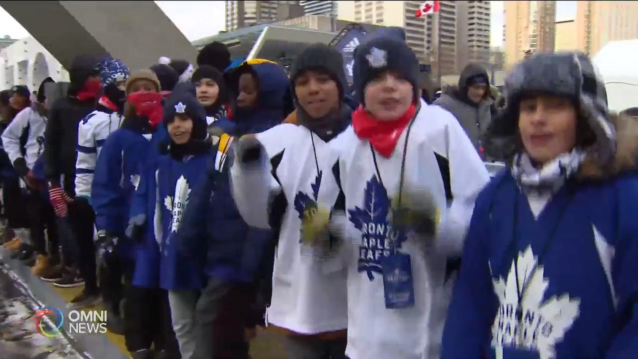 Toronto Maple Leafs' annual outdoor practice