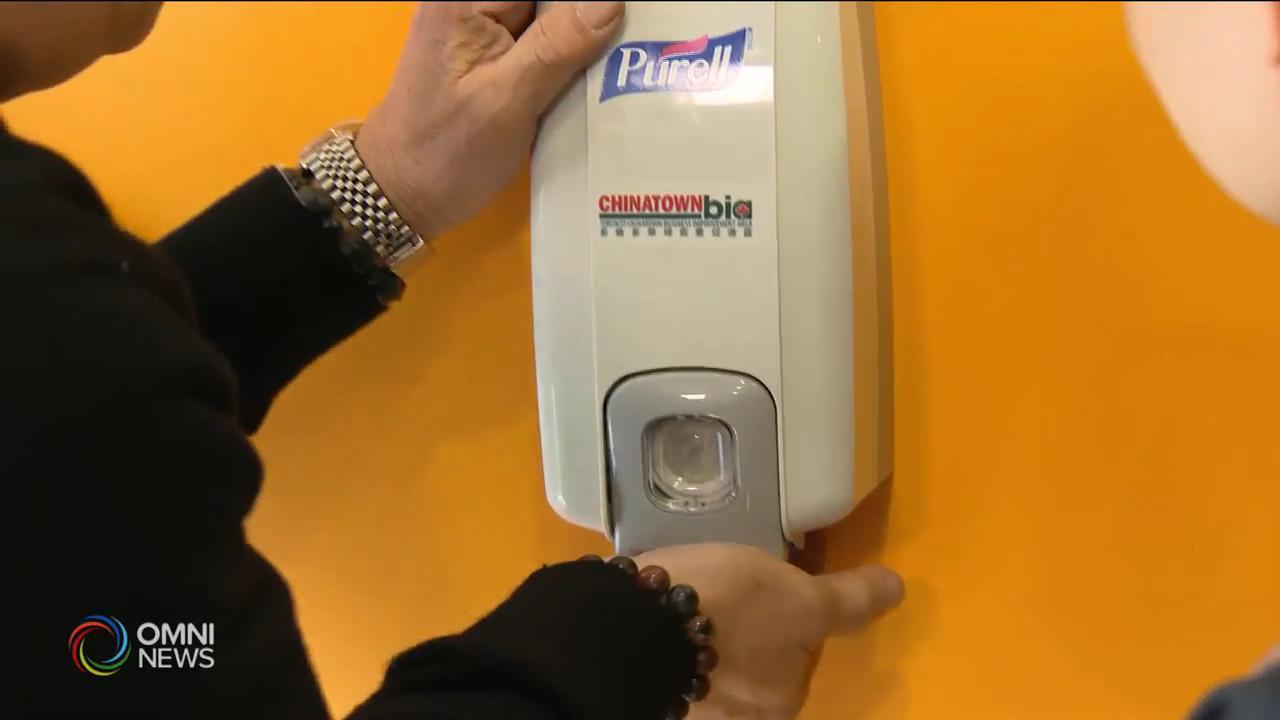 華埠加強衛生意識,商戶添置消毒洗手機 — Feb 27, 2020 (ON)