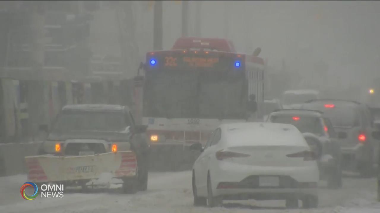 冬季雪暴今晚抵達南安省 — Feb 25, 2020 (ON)