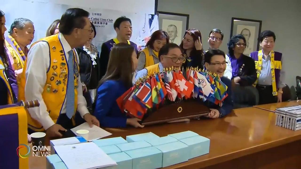 多伦多国泰狮子会捐口罩帮助香港民眾- Feb 12, 2020