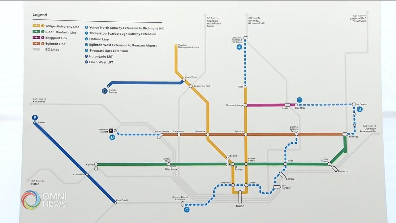 省府引入法案加快興建三條地鐵線速度 — Feb 26, 2020 (ON)