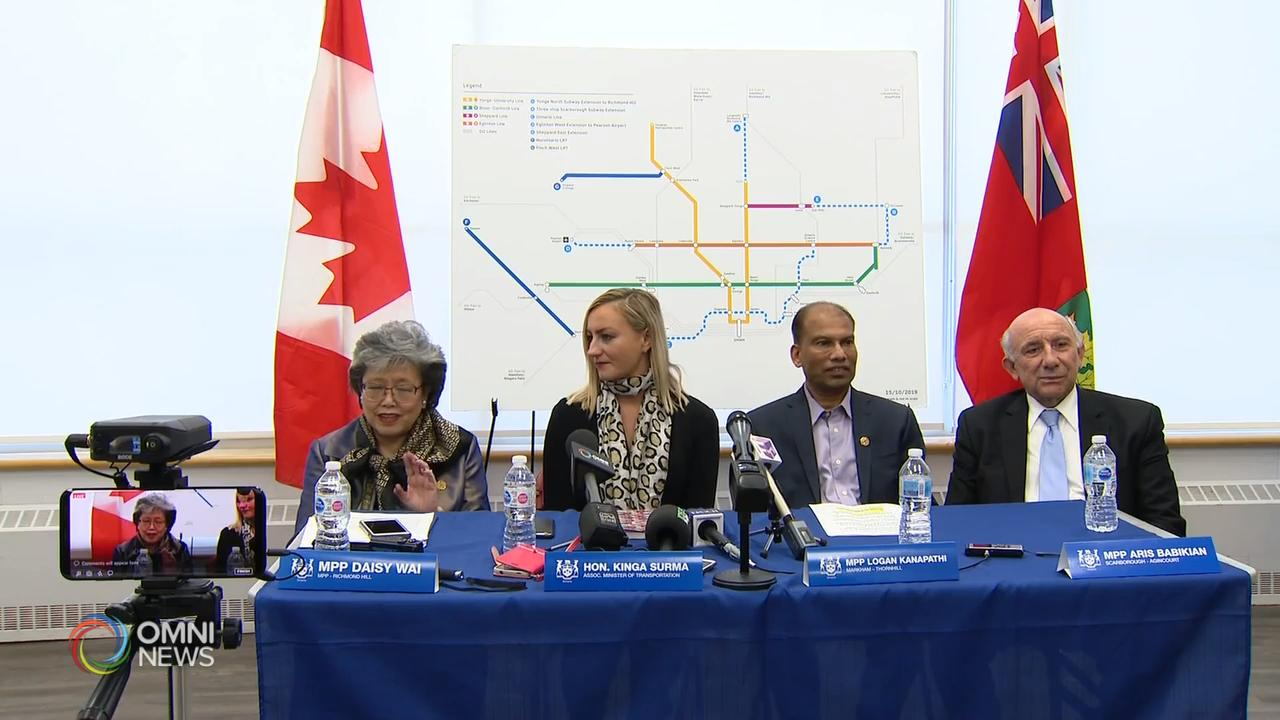 省政府推出法案,加快兴建三条地铁线 - Feb 26, 2020