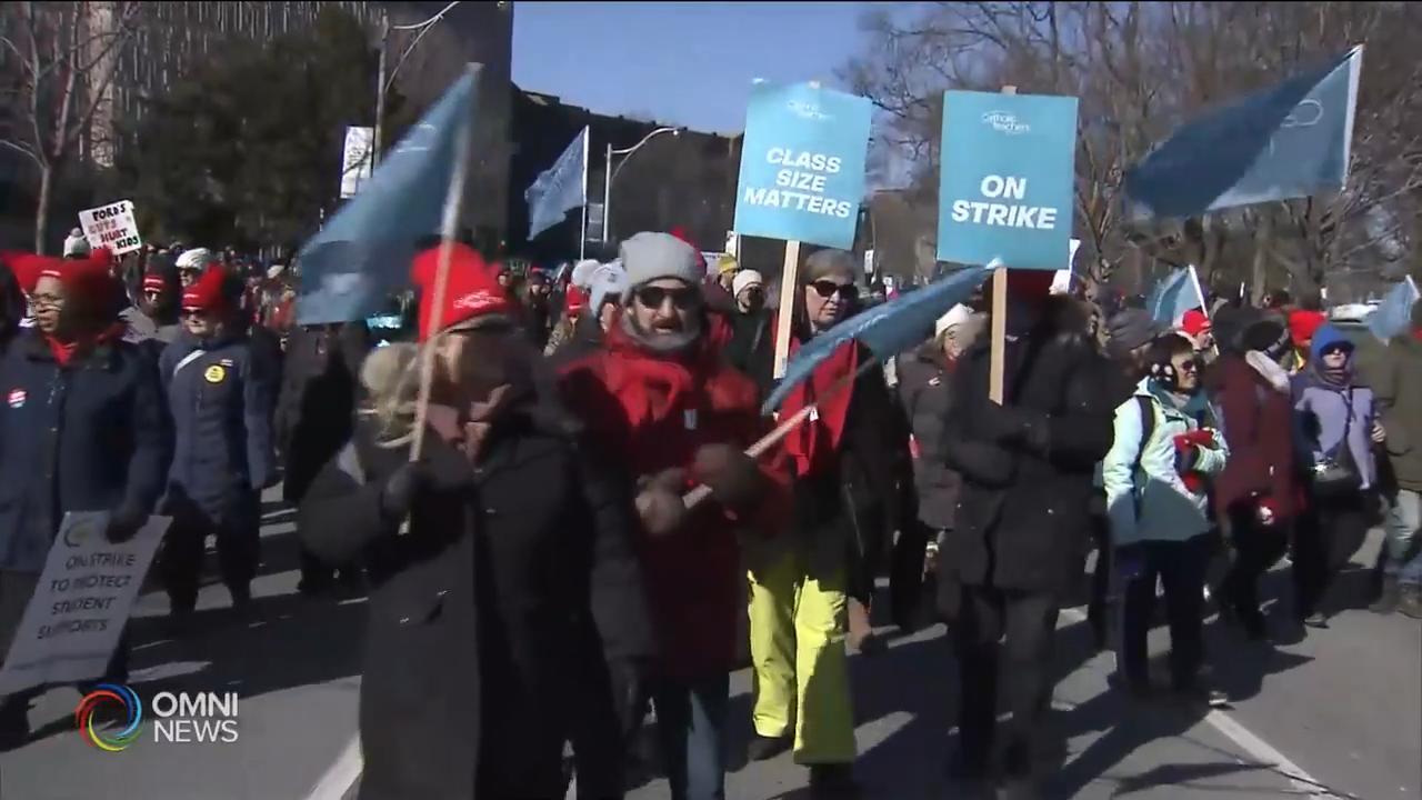 四大教師工會聯合罷工,二百萬學生停課 — Feb 21, 2020 (ON)