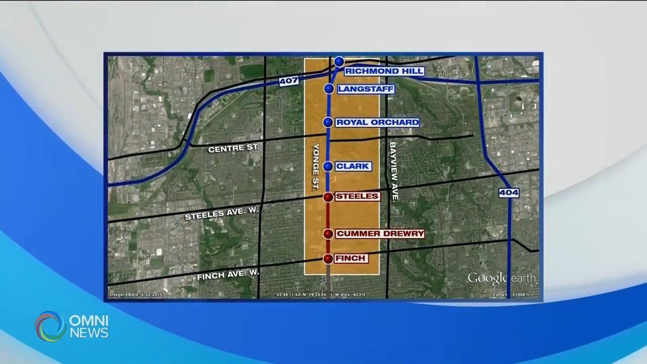 省府宣布与约克区落实地铁延伸至约克区的计画 - May 28, 2020