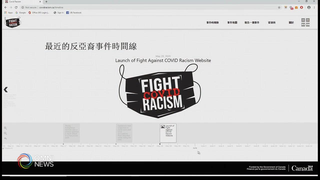 打擊新冠病毒種族主義網站推出 — May 28, 2020 (ON)