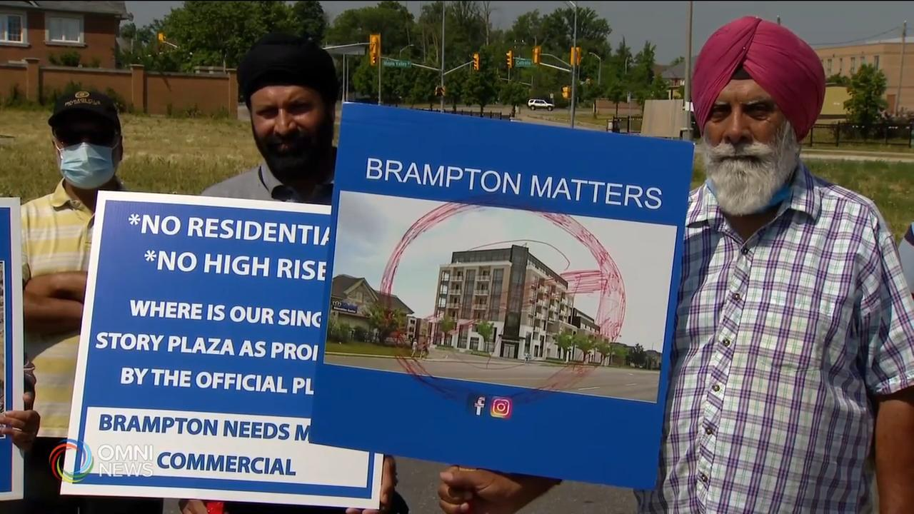 Protests against Brampton high-rise building
