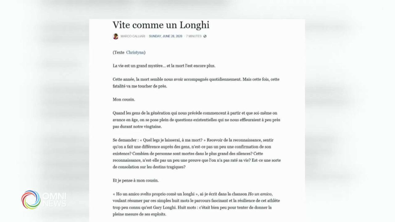 Il ricordo di Gary Longhi, l'atleta paralimpico italo-canadese che ha scelto la morte assistita