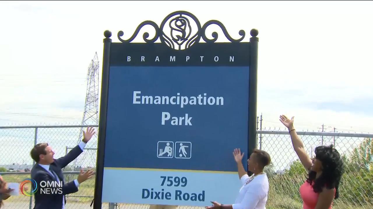 賓頓市407 Sports公園改名為解放公園 — Aug 12, 2020 (ON)