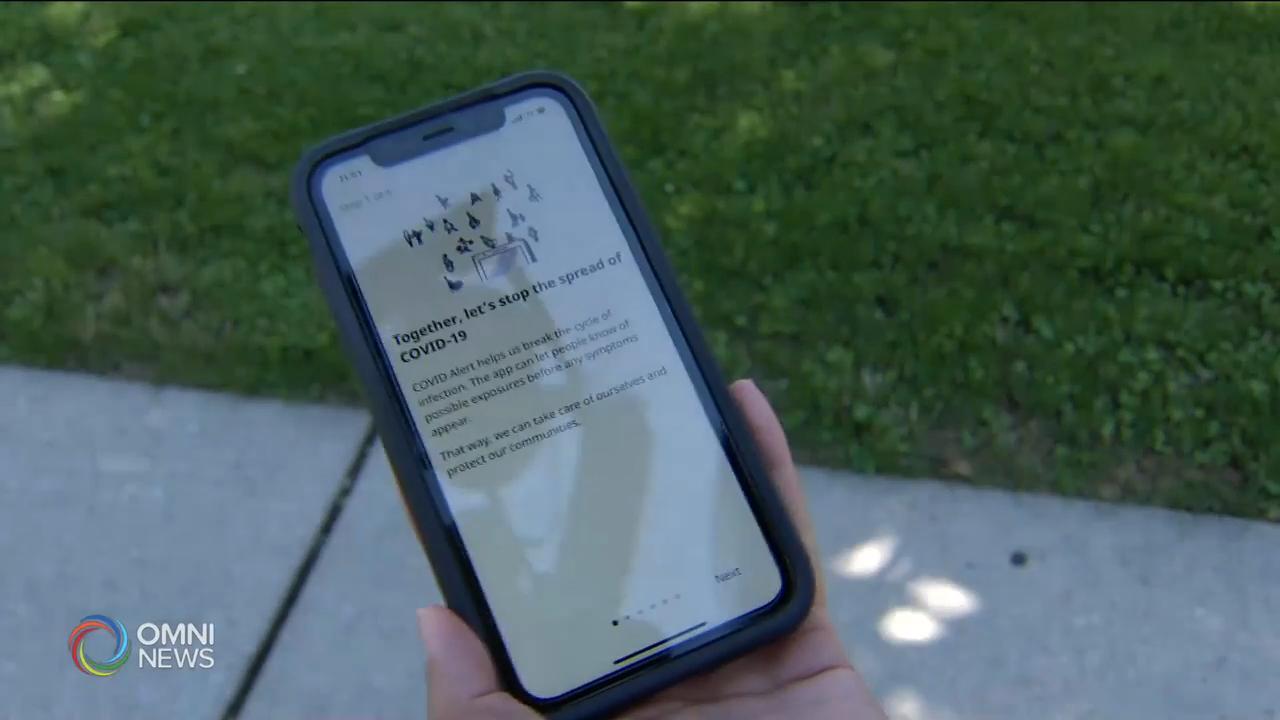新冠追蹤手機應用程式啟用一星期 — Aug 07, 2020 (ON)