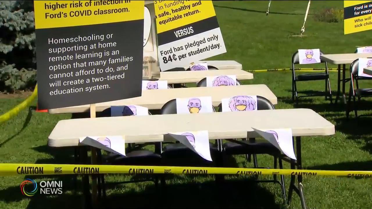 教師工會不排除入稟挑戰省府復課計畫 — Aug 12, 2020 (ON)