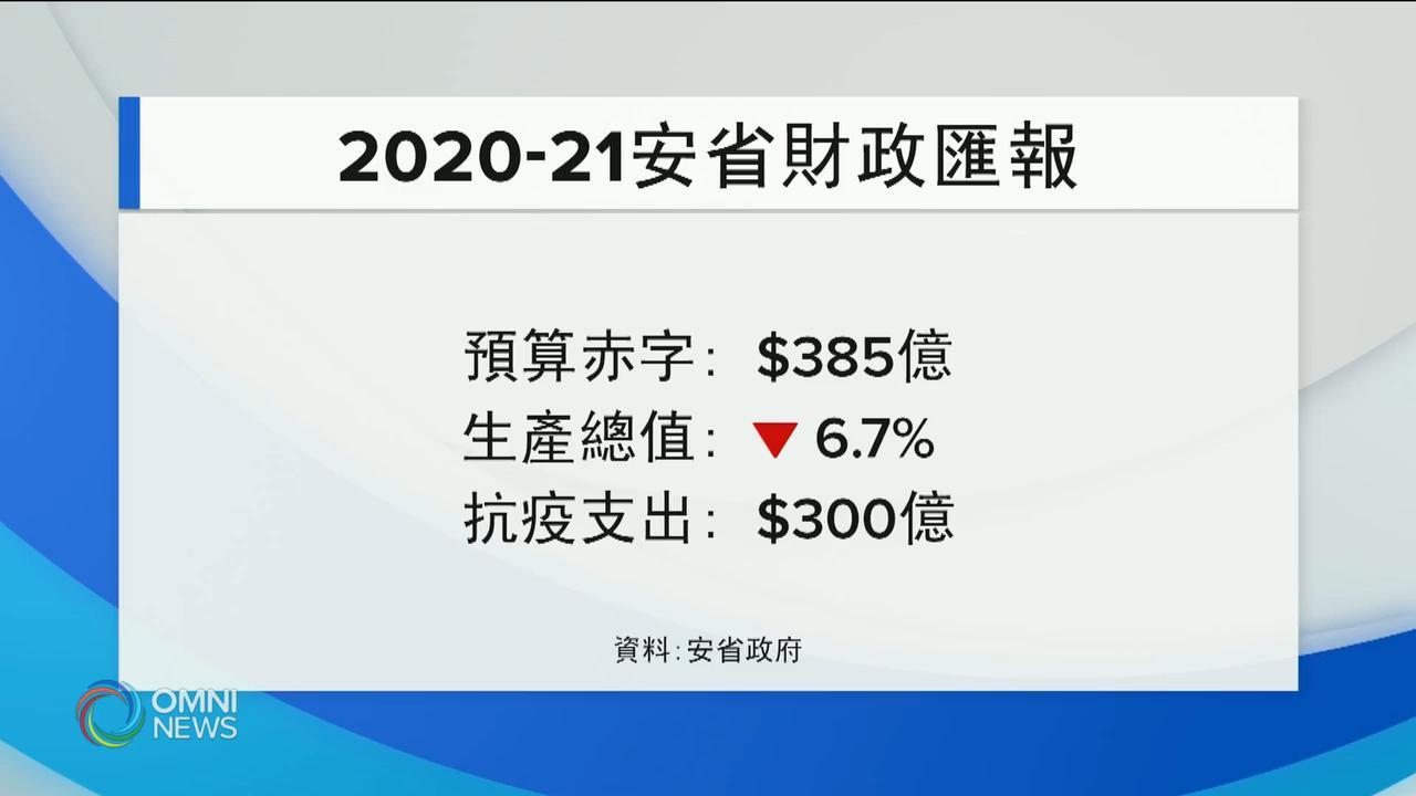 疫情令赤字倍升 省長暫時不考慮加稅 — Aug 12, 2020 (ON)