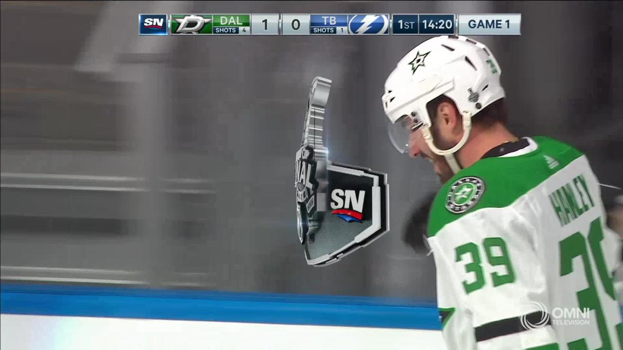 Joel Hanley Gives Dallas the early lead!