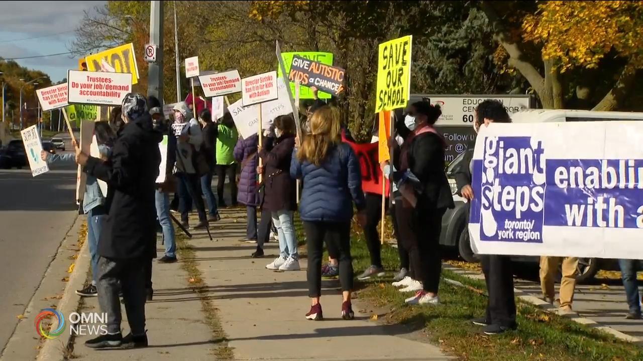 家长抗议约克区教育局取消自闭症教育项目- Oct 16, 2020