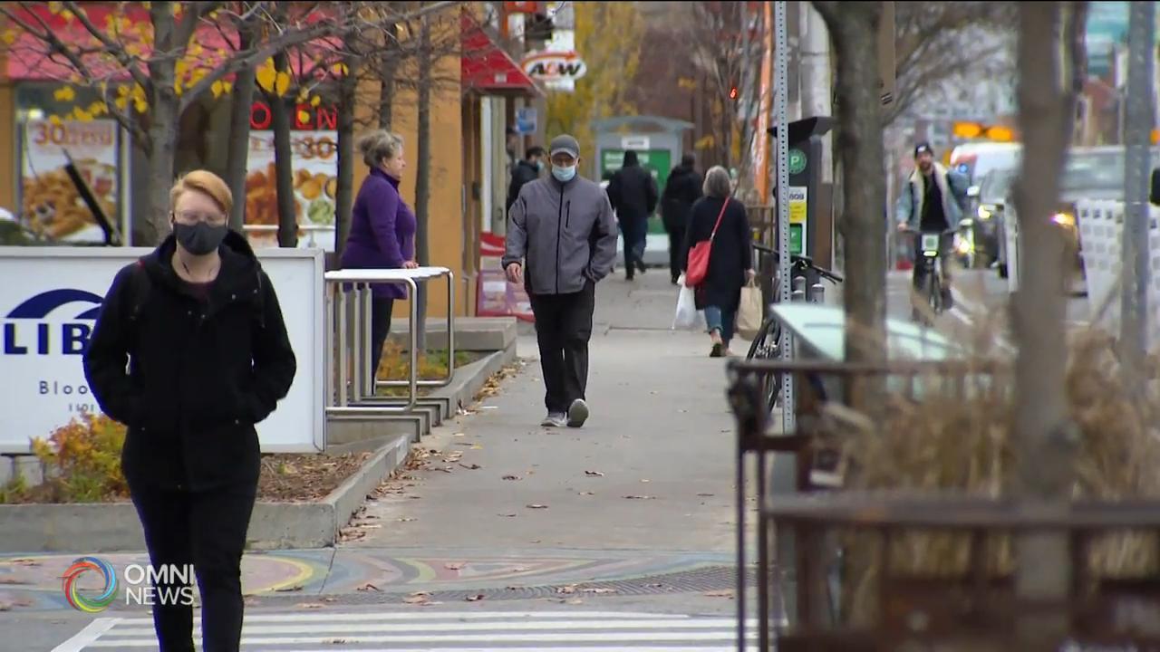 多倫多和皮爾區今日開始進入灰色封鎖級別 — Nov 23, 2020 (ON)