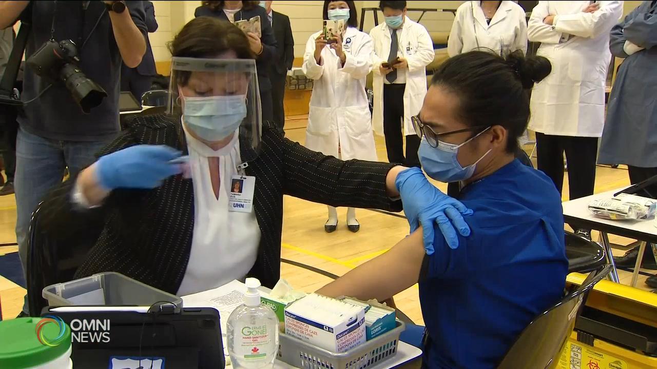 第二階段新冠疫苗接種三月進行 — Jan 13, 2021 (ON)