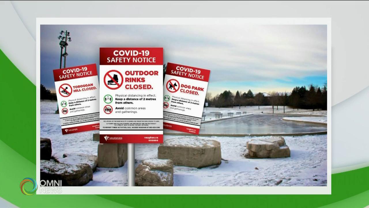 旺市率先關閉戶外冰上活動場所 — Jan 15, 2021 (ON)