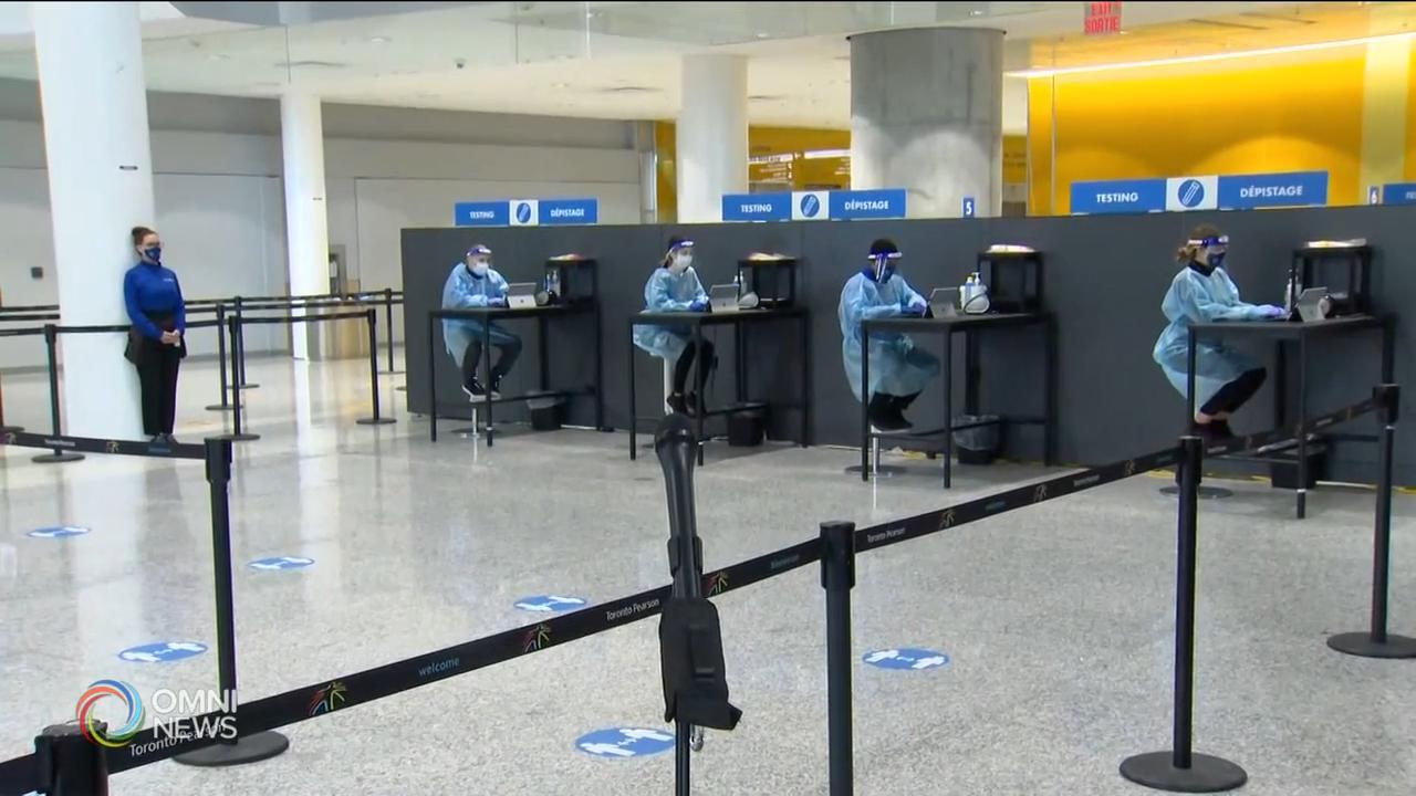 省長促請渥太華立即強制入境檢測 — Jan 26, 2021 (ON)